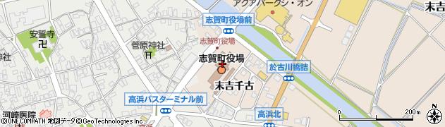 石川県羽咋郡志賀町周辺の地図