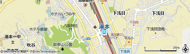 とうふ工房・分家奈良屋 湯元駅前店周辺の地図