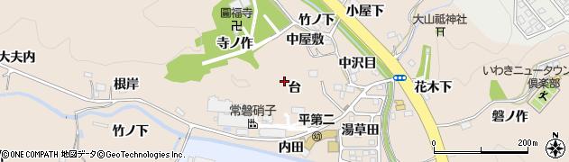 福島県いわき市常磐上矢田町(台)周辺の地図