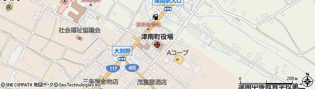 新潟県中魚沼郡津南町周辺の地図