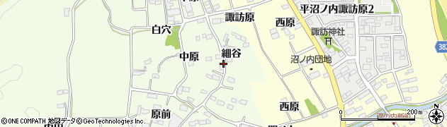 福島県いわき市平神谷作(細谷)周辺の地図