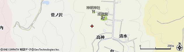 福島県いわき市平鶴ケ井(高神)周辺の地図