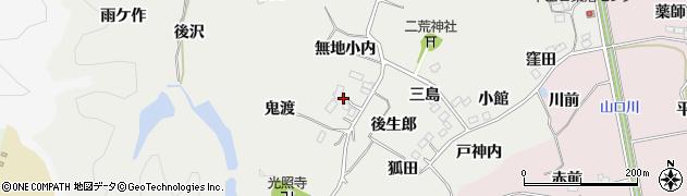 福島県いわき市平下山口(後生郎)周辺の地図