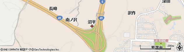 福島県いわき市常磐上矢田町(沼平)周辺の地図