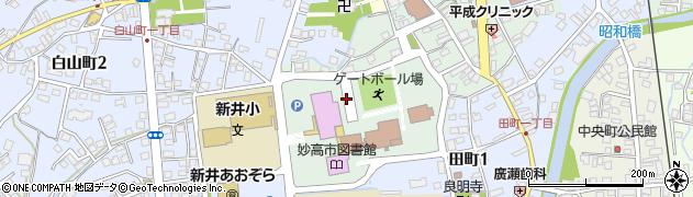 新潟県妙高市上町周辺の地図