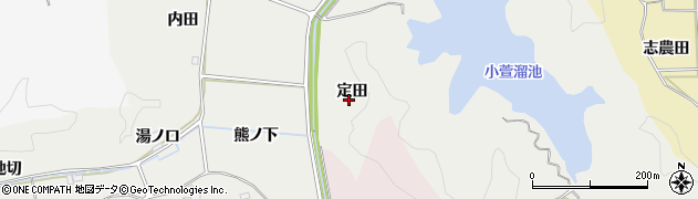 福島県いわき市平下山口(定田)周辺の地図