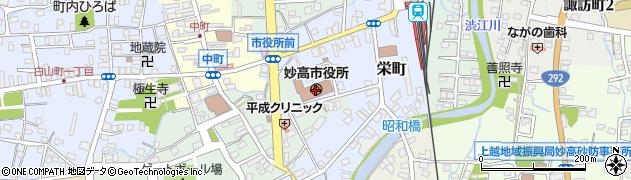 新潟県妙高市周辺の地図