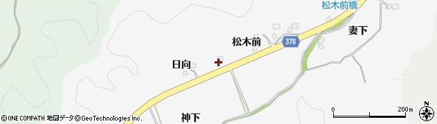 福島県いわき市平上高久(日向)周辺の地図
