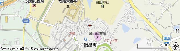 石川県七尾市後畠町(リ)周辺の地図