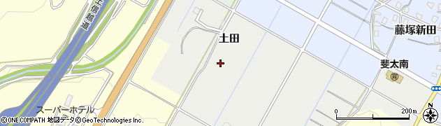 新潟県妙高市土田周辺の地図