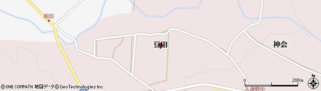 福島県いわき市遠野町上根本(豆田)周辺の地図