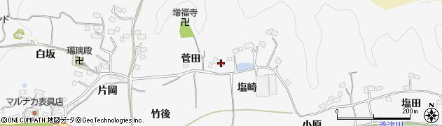 福島県いわき市平上高久(菅田)周辺の地図