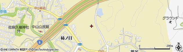 福島県いわき市平中山(柿ノ目)周辺の地図