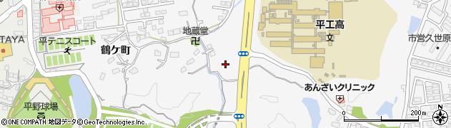 福島県いわき市平下荒川(大作)周辺の地図