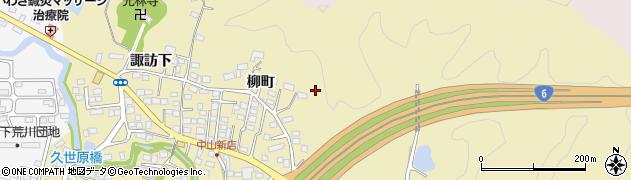 福島県いわき市平中山(柳町)周辺の地図