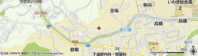 福島県いわき市内郷内町(金坂)周辺の地図