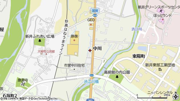 〒944-0005 新潟県妙高市中川の地図