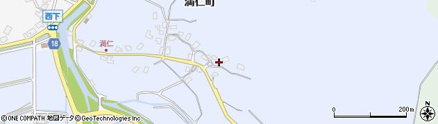 石川県七尾市満仁町(ワ)周辺の地図