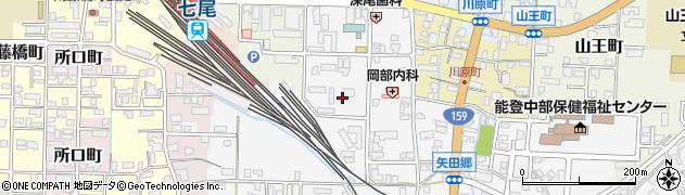 石川県七尾市巴町周辺の地図