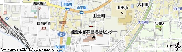 石川県七尾市山王町周辺の地図