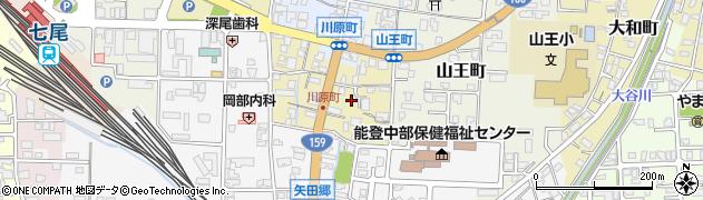 石川県七尾市上府中町(ス)周辺の地図