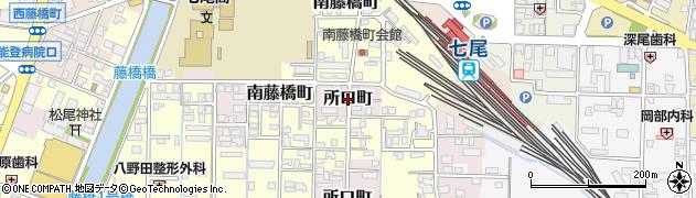 石川県七尾市所口町(ニ)周辺の地図