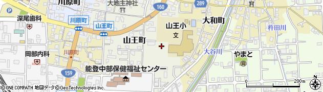 石川県七尾市山王町(ツ)周辺の地図