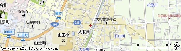 石川県七尾市大和町周辺の地図