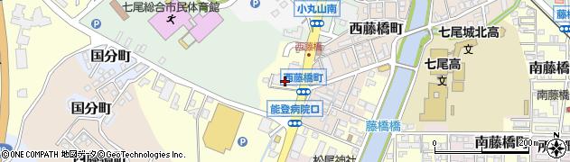 石川県七尾市藤橋町(テ)周辺の地図