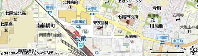 石川県七尾市神明町周辺の地図