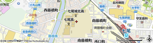 石川県七尾市西藤橋町(エ)周辺の地図