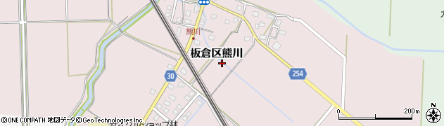 新潟県上越市板倉区熊川周辺の地図