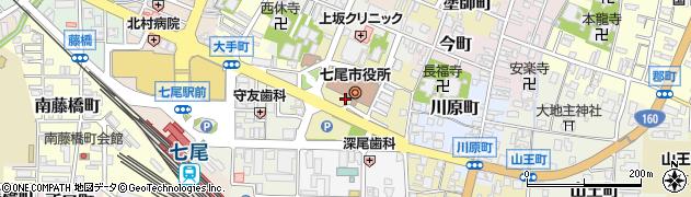 石川県七尾市袖ケ江町周辺の地図