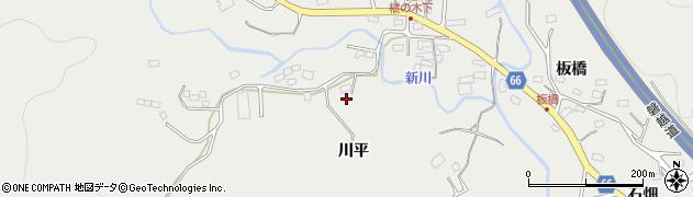福島県いわき市内郷高野町(川平)周辺の地図