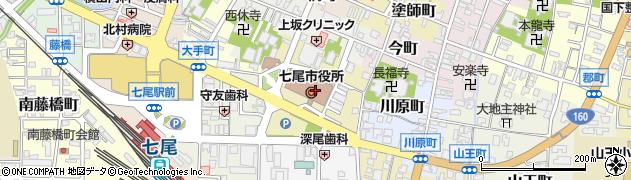 石川県七尾市周辺の地図