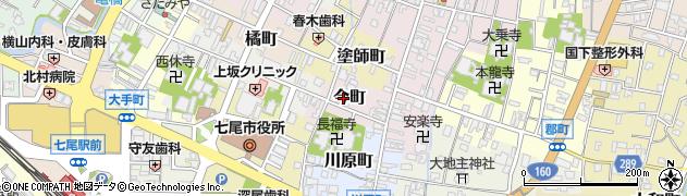 石川県七尾市今町周辺の地図