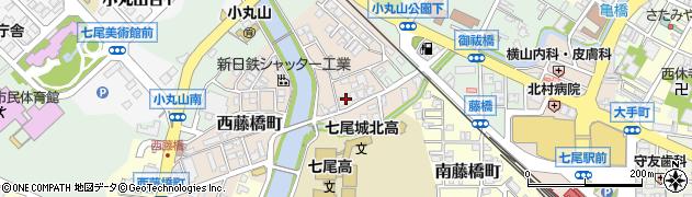 石川県七尾市西藤橋町(ハ)周辺の地図
