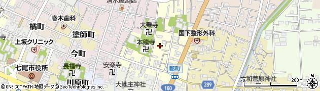 石川県七尾市郡町周辺の地図