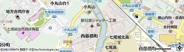 石川県七尾市西藤橋町(カ)周辺の地図