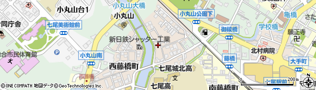 石川県七尾市西藤橋町(ニ)周辺の地図