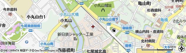 石川県七尾市西藤橋町(御貸屋山)周辺の地図
