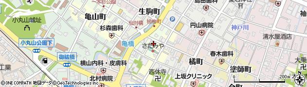 石川県七尾市桧物町周辺の地図