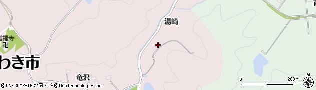 福島県いわき市平南白土(湯崎)周辺の地図