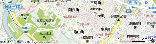 石川県七尾市一本杉町周辺の地図