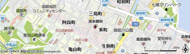 石川県七尾市米町周辺の地図