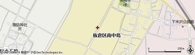 新潟県上越市板倉区南中島周辺の地図