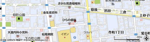 福島県いわき市平(三倉)周辺の地図