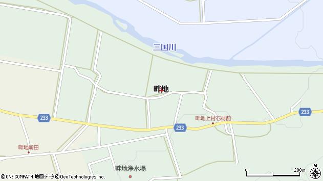 〒949-6746 新潟県南魚沼市畔地の地図