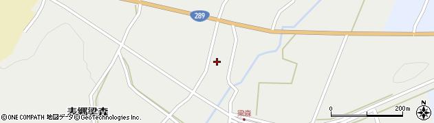 福島県白河市表郷梁森(榎内)周辺の地図