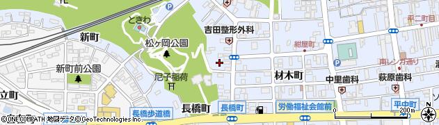 福島県いわき市平(研町)周辺の地図
